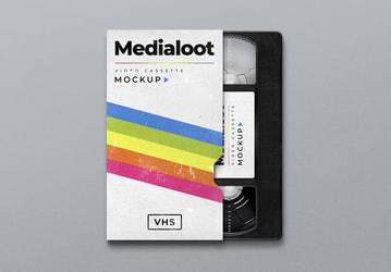 VHS Cassette Cover Mockup