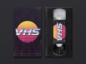 VHS Cassette Cover Mockup 2