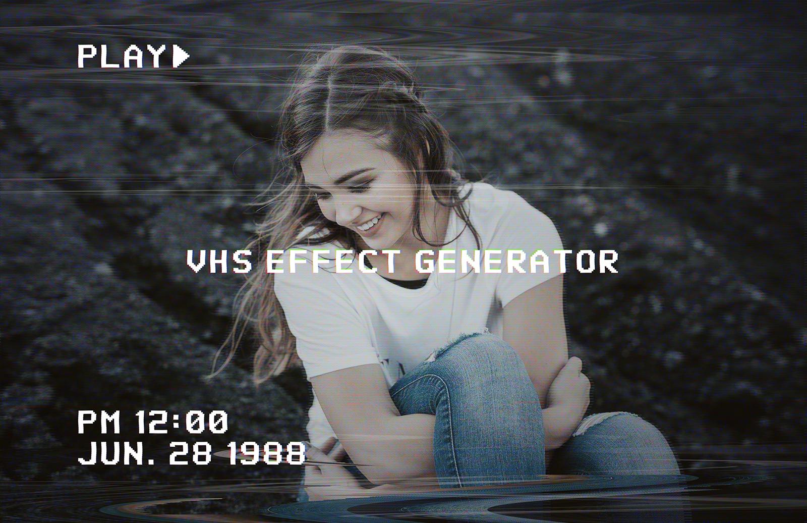 VHS Image Effect Generator