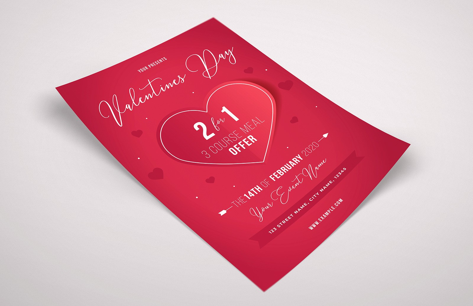 Valentines Day Event Flyer Template Preview 1A