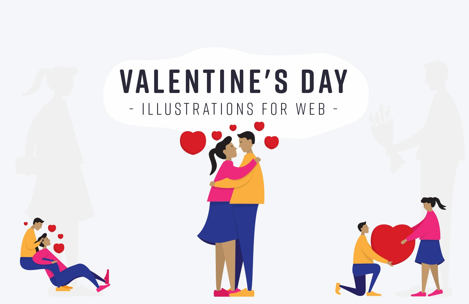 Valentines Day Illustrations For Web Preview 1