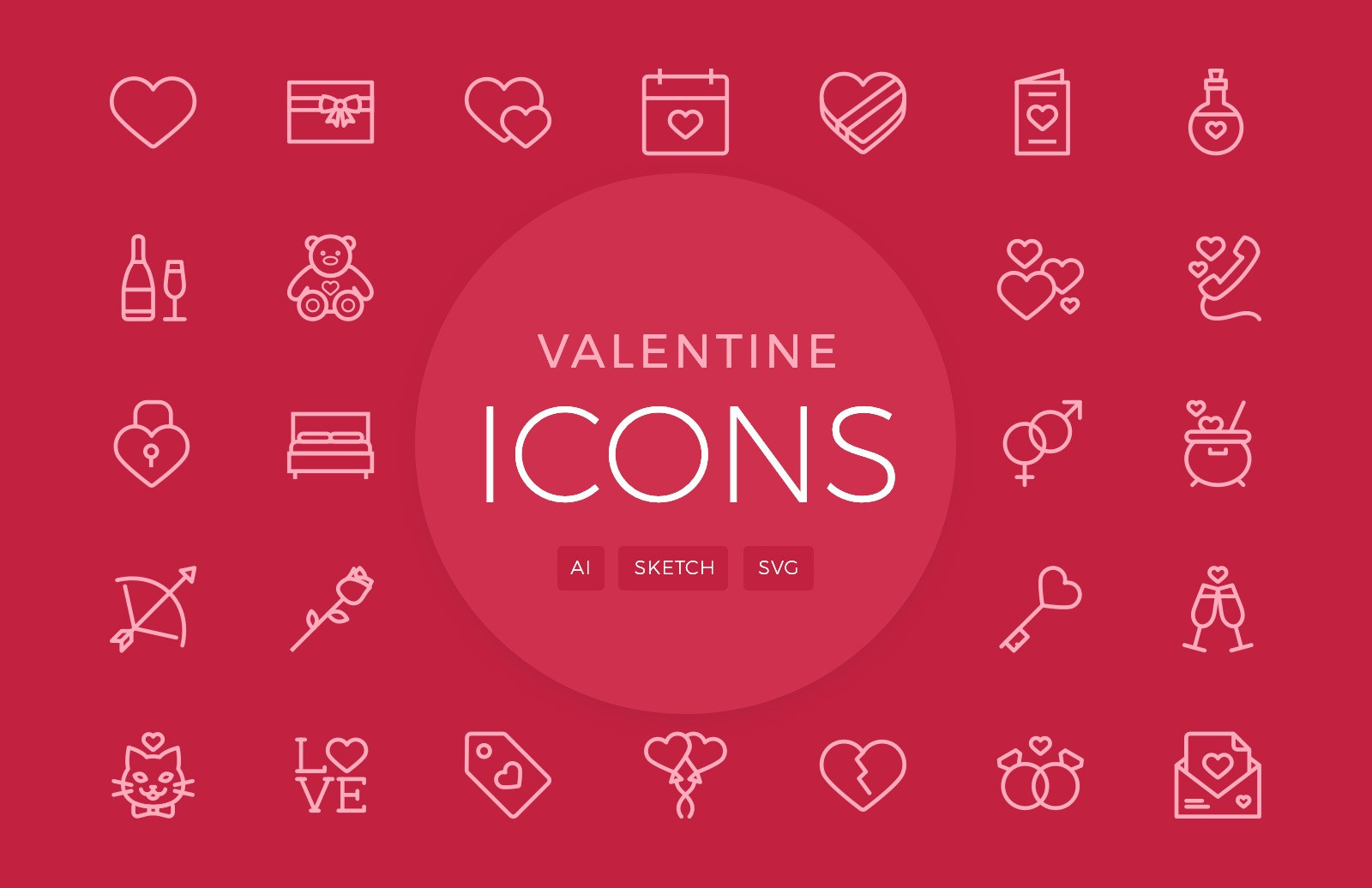 Valentine's Day Vector Icons
