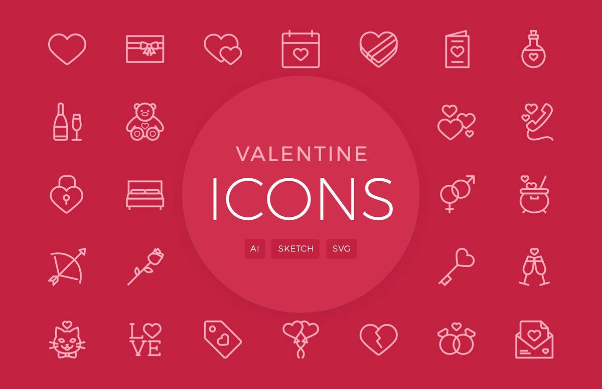 Valentines Day Vector Icons 2 Preview 1