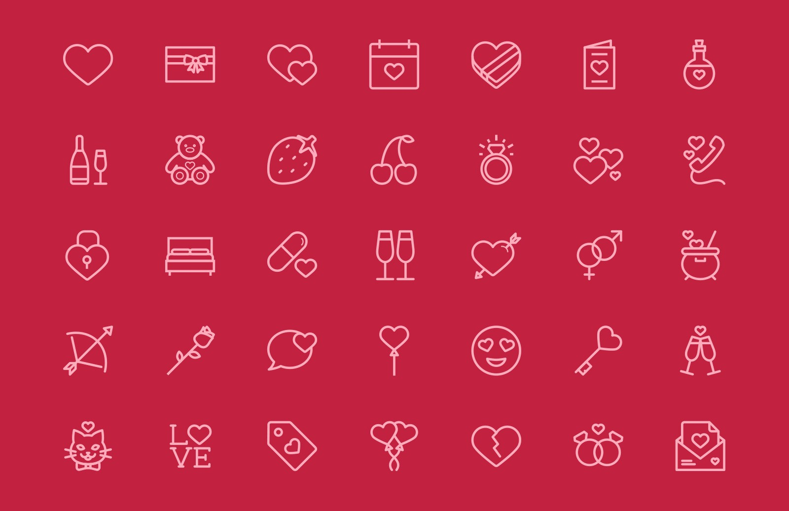 Valentine's Day Vector Icons