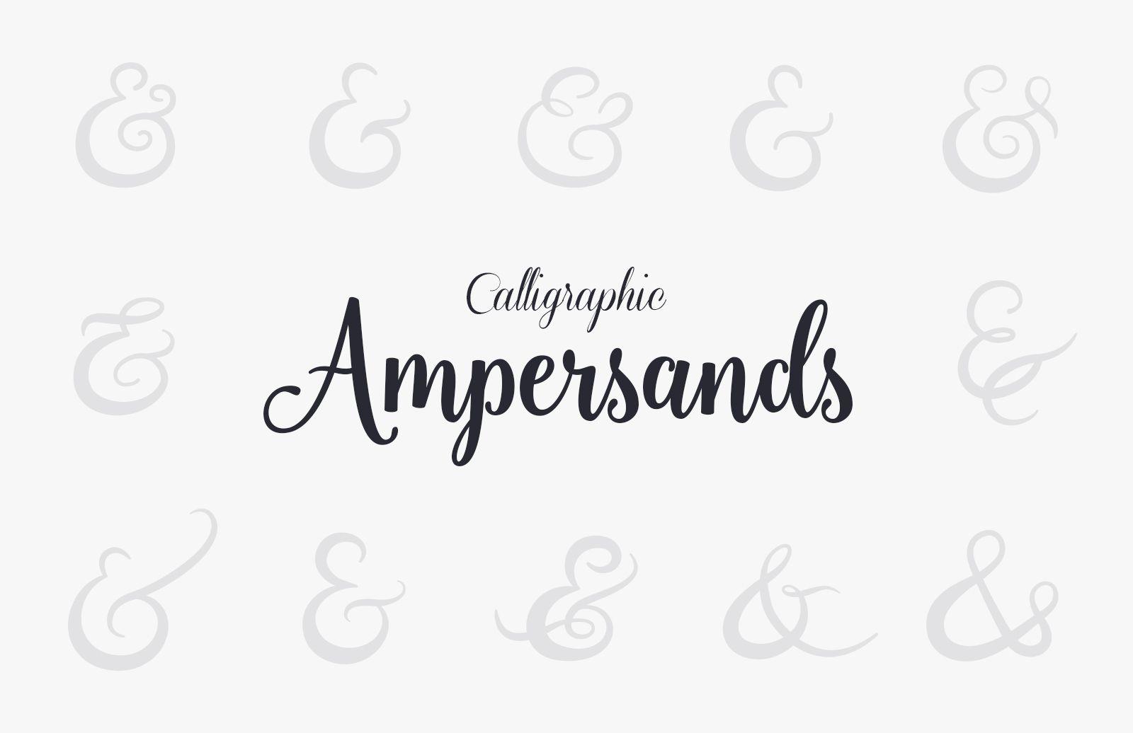 Vector  Calligraphic  Ampersands  Preview 1