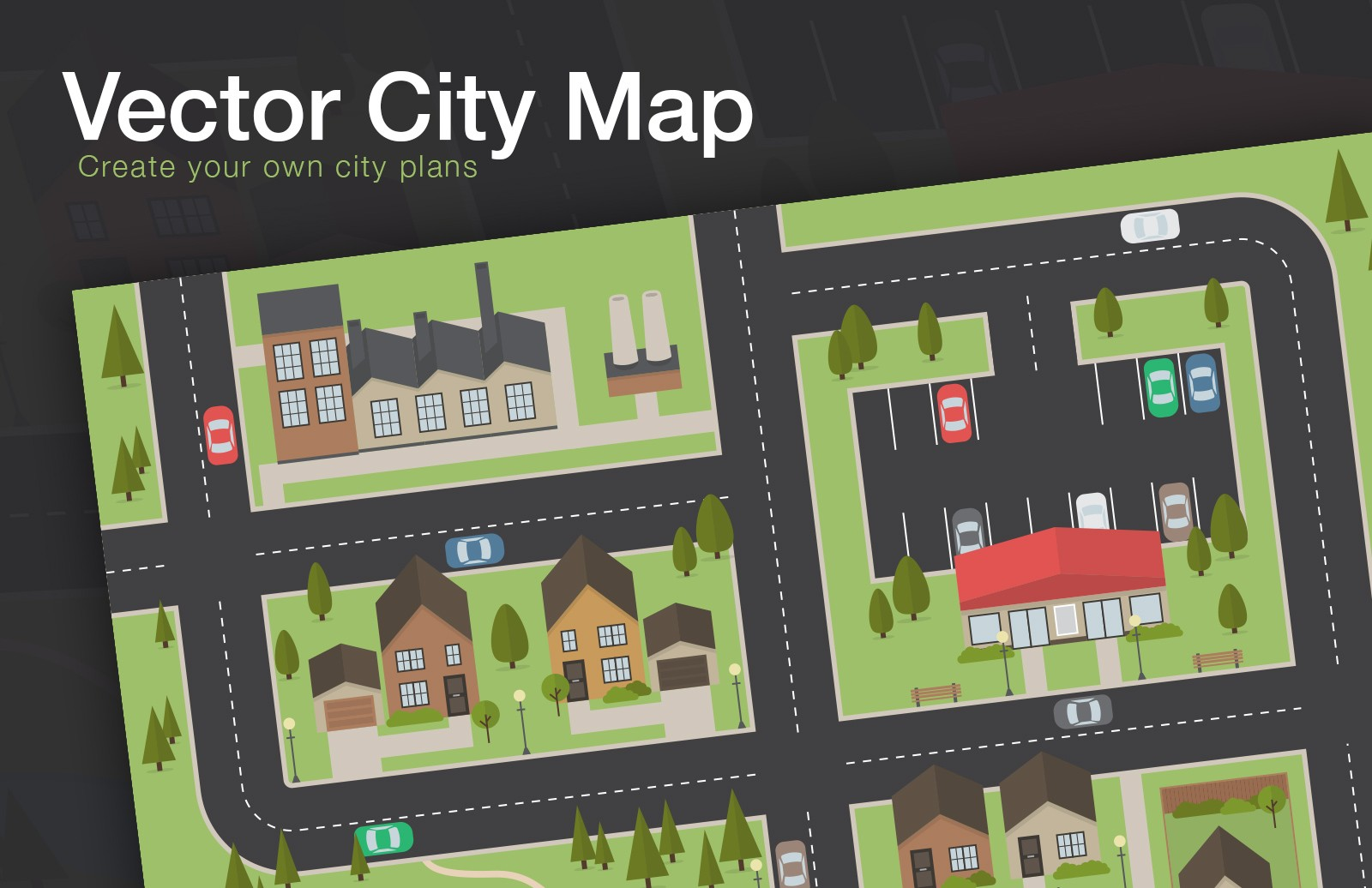 Free Vector City Map Layout 1