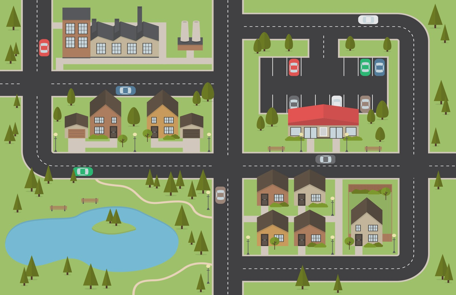 Free Vector City Map Layout 2