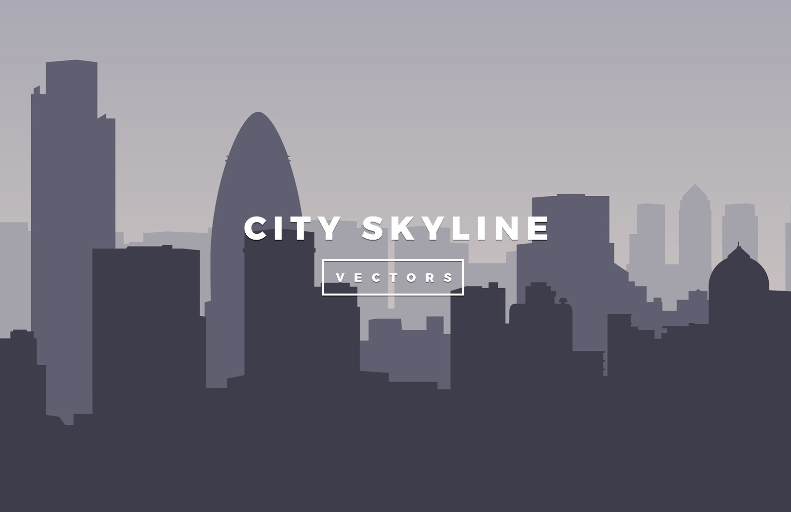 Large Vector City Skylines Preview 1
