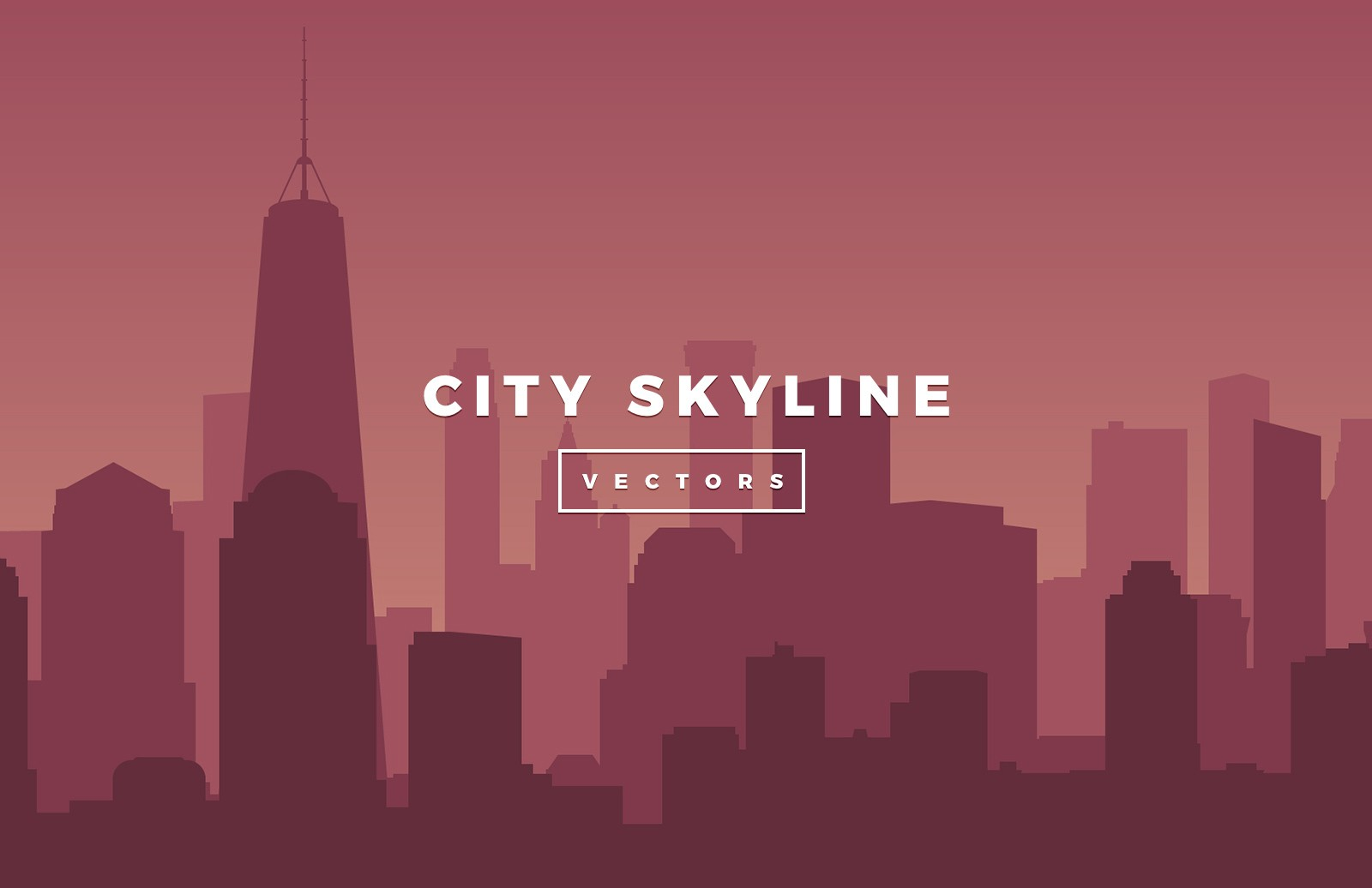 Large Vector City Skylines Preview 2