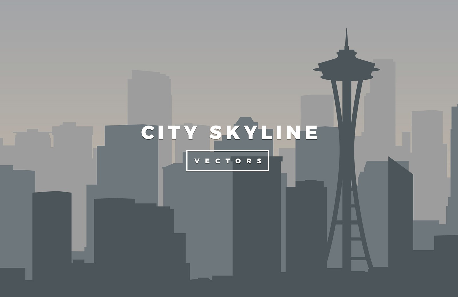 Large Vector City Skylines Preview 3