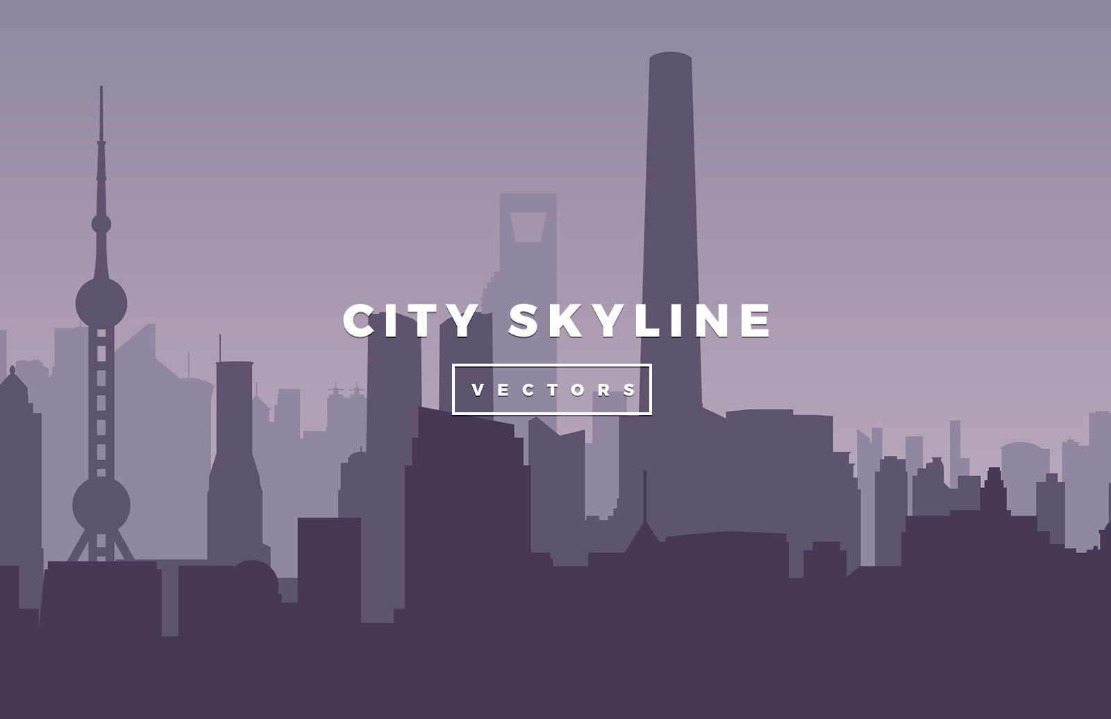 Large Vector City Skylines Preview 4