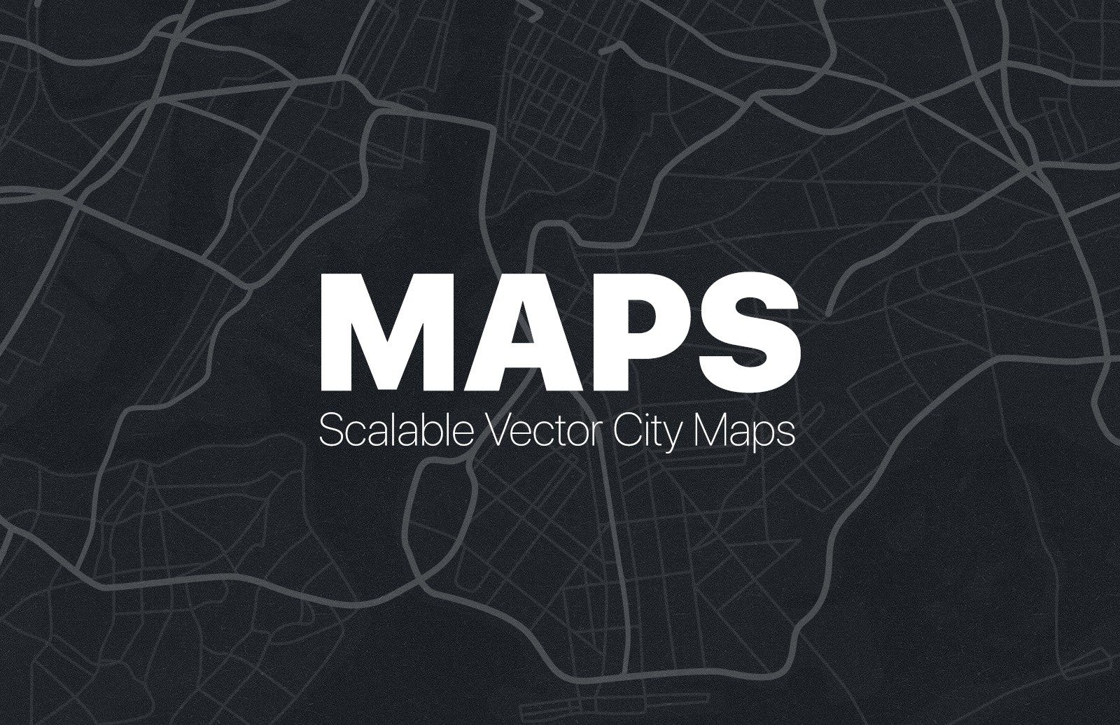 Hand Drawn Vector City Street Maps