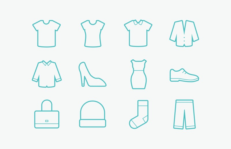 Free Vector Clothing Icons — Medialoot