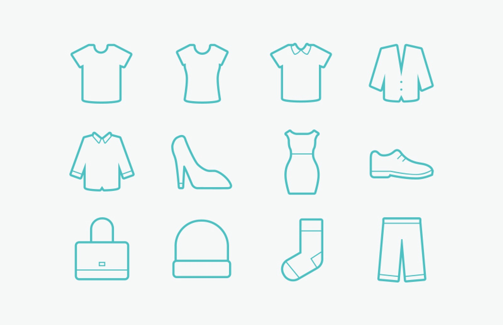 Free Vector Clothing Icons Medialoot