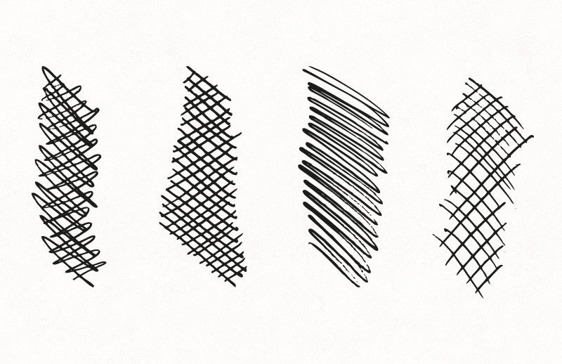 Vector Crosshatch Brushes