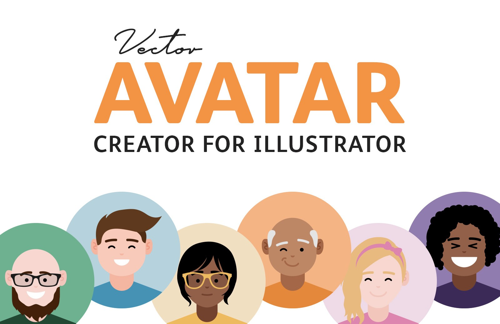 Vector Avatar Creator For Illustrator Preview 1
