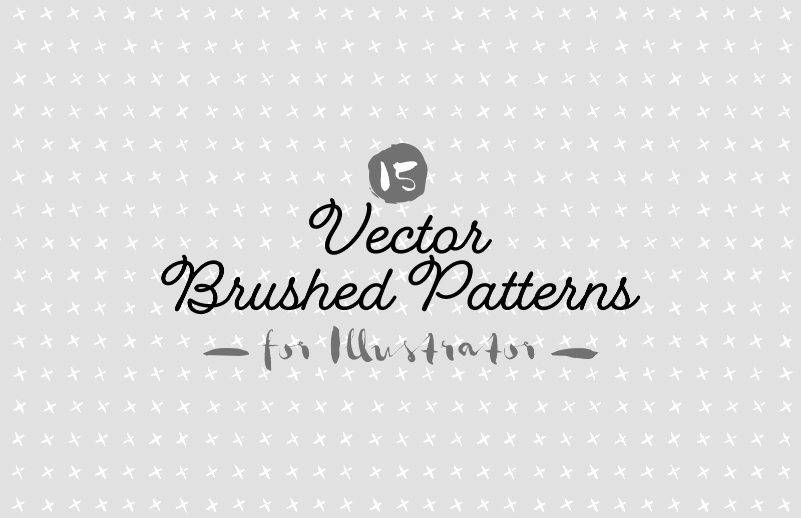Vector Brushed Patterns Preview 1