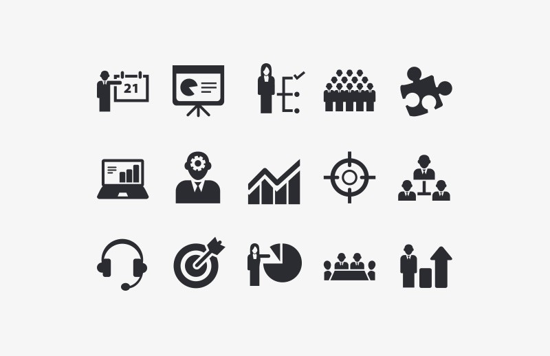 Large Vector  Business  Icon  Set  Preview 1A