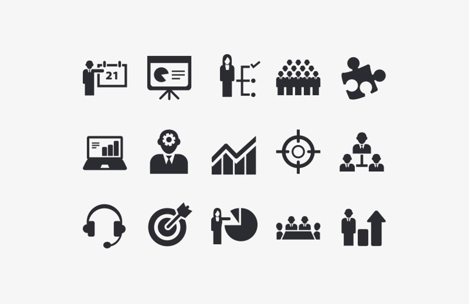 business vector icon set medialoot