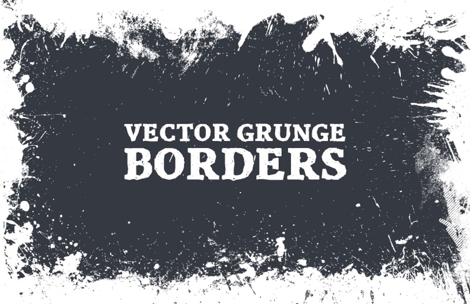 Vector  Grunge  Borders  Preview 1