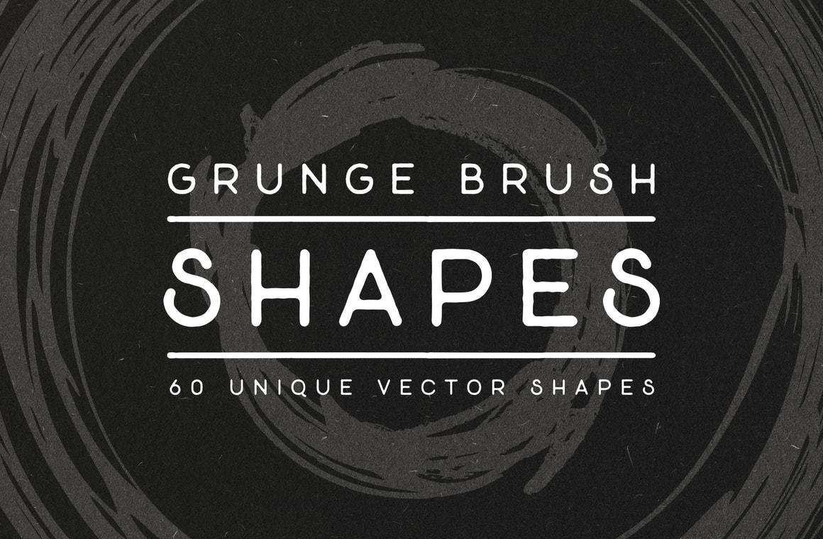 Vector Grunge Brush Shapes