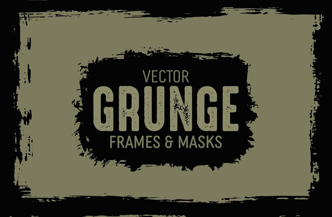 Vector Grunge Frames and Masks