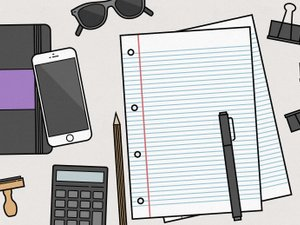 Vector Desk Items Illustration 1