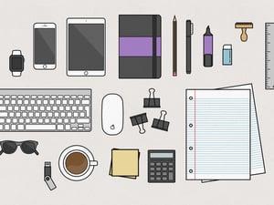 Vector Desk Items Illustration 2