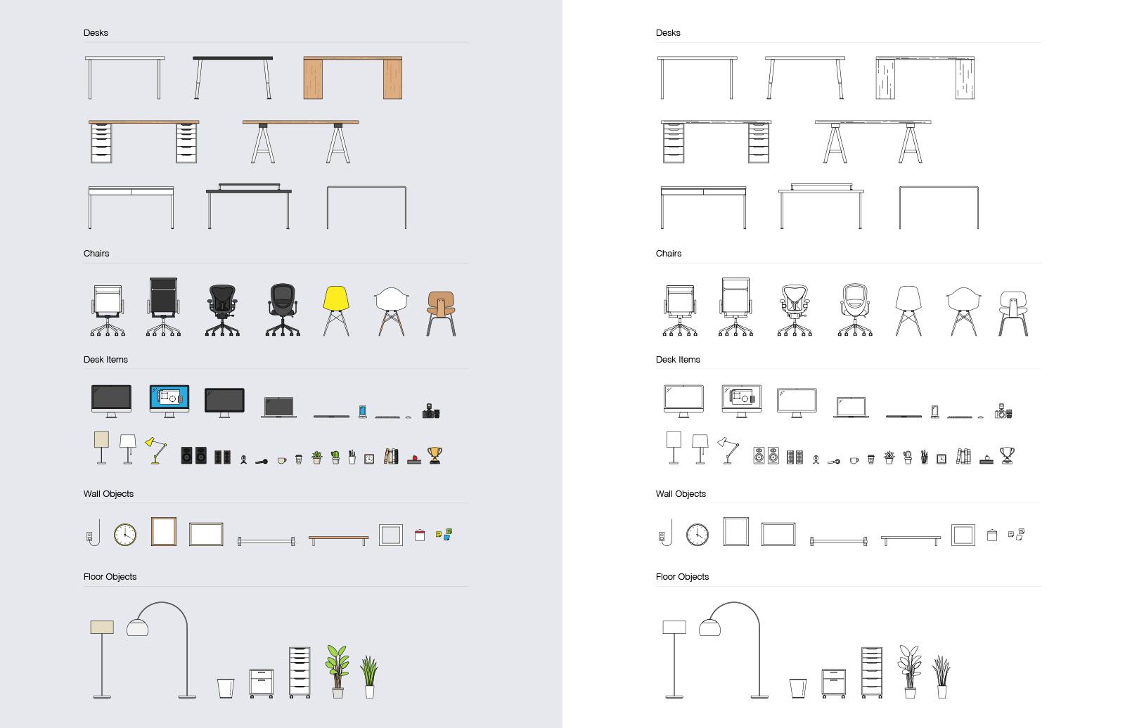 Large Vector  Desk  Scene  Creation  Kit  Preview 4