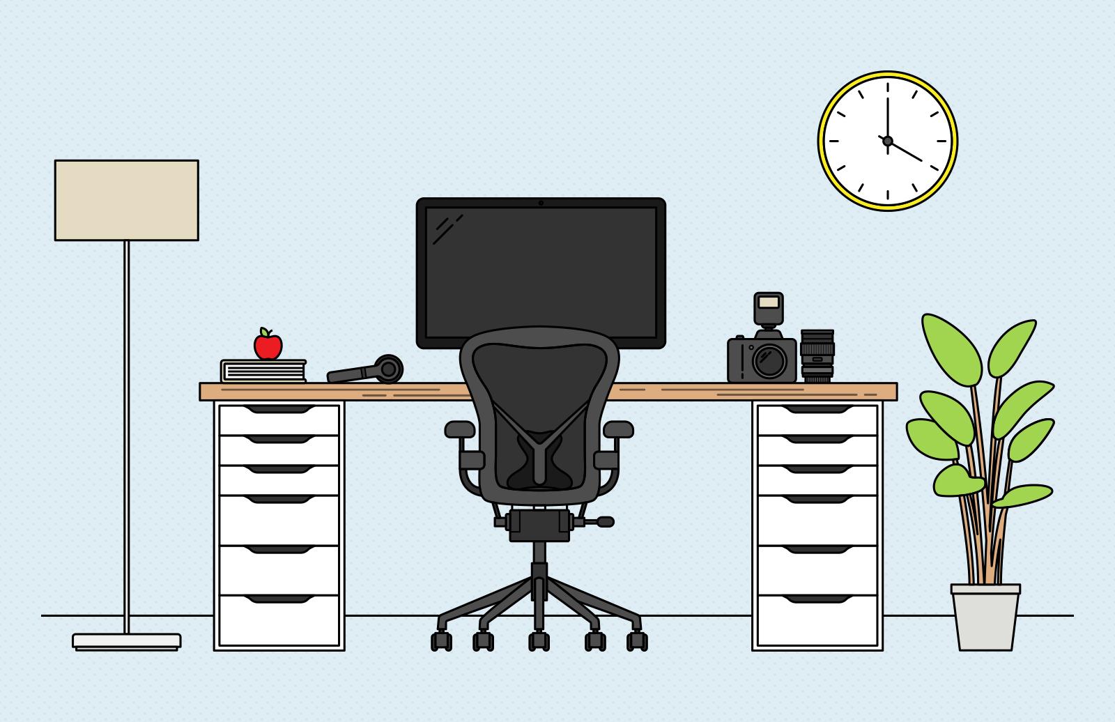 Vector  Desk  Scene  Creation  Kit  Preview 1