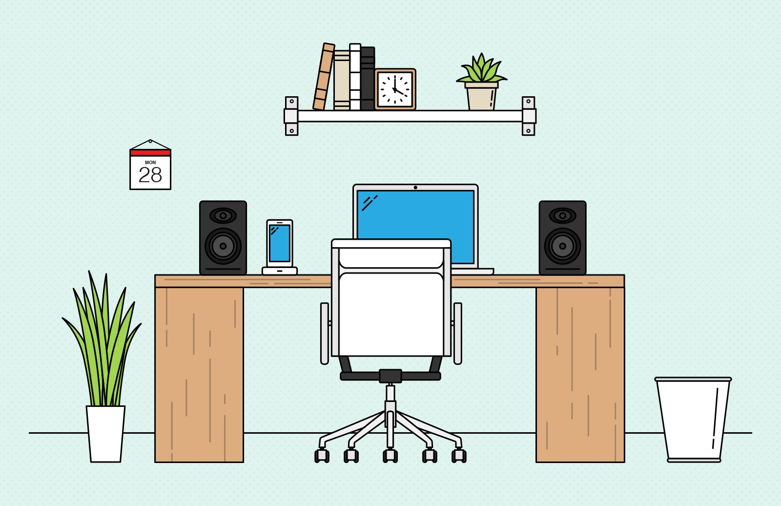 Vector  Desk  Scene  Creation  Kit  Preview 3