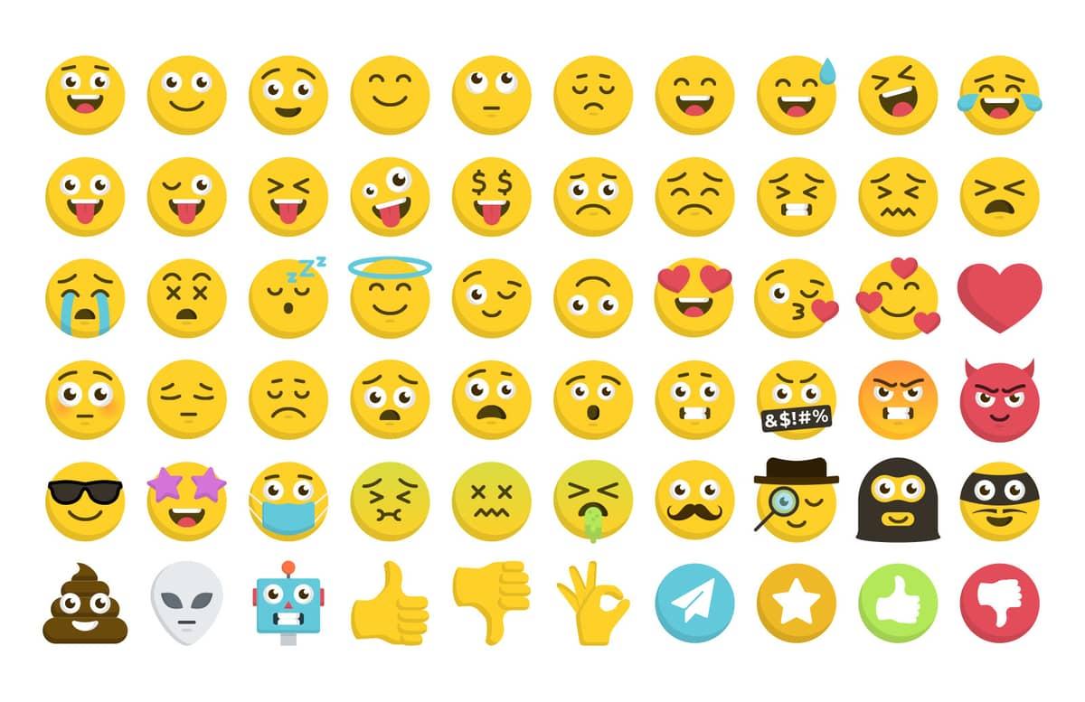 Vector Emoji Icon Set Preview 1