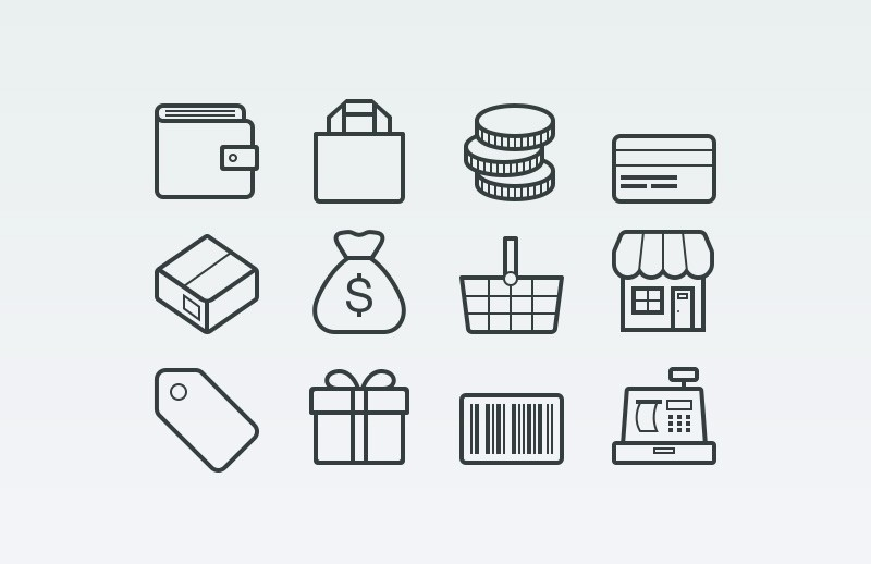 Large Vector  Ecommerce  Icons  Preview 1