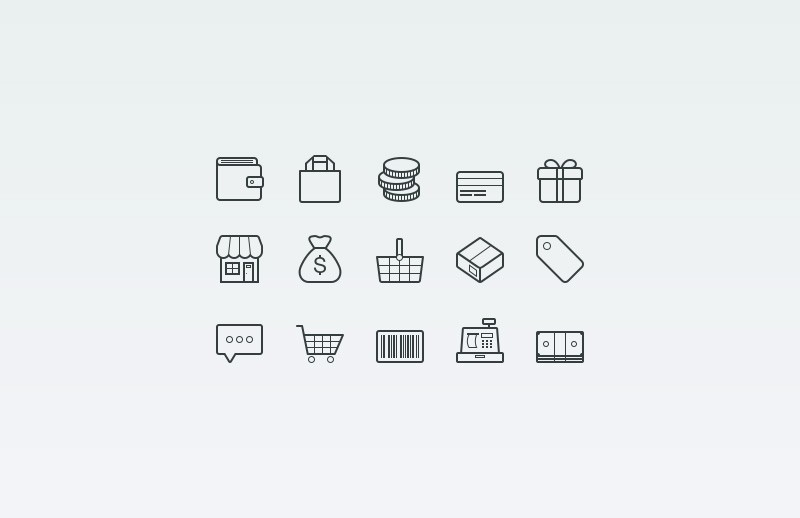 Large Vector  Ecommerce  Icons  Preview 2