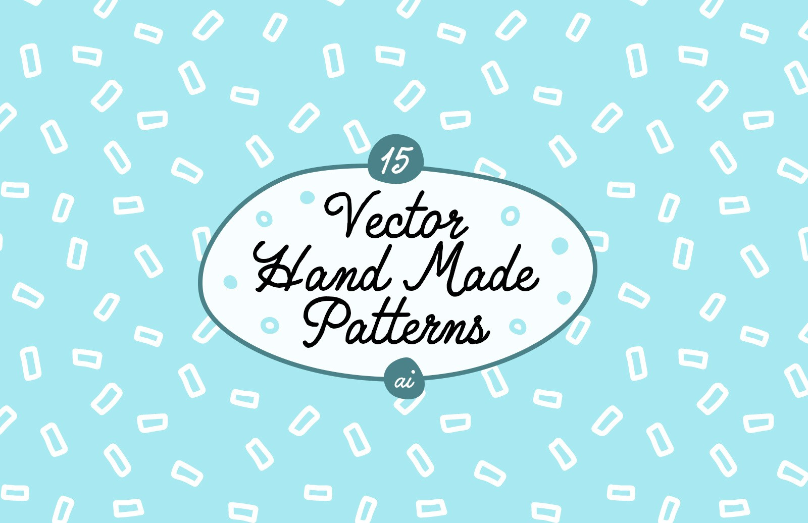 Vector Hand Made Patterns Preview 1
