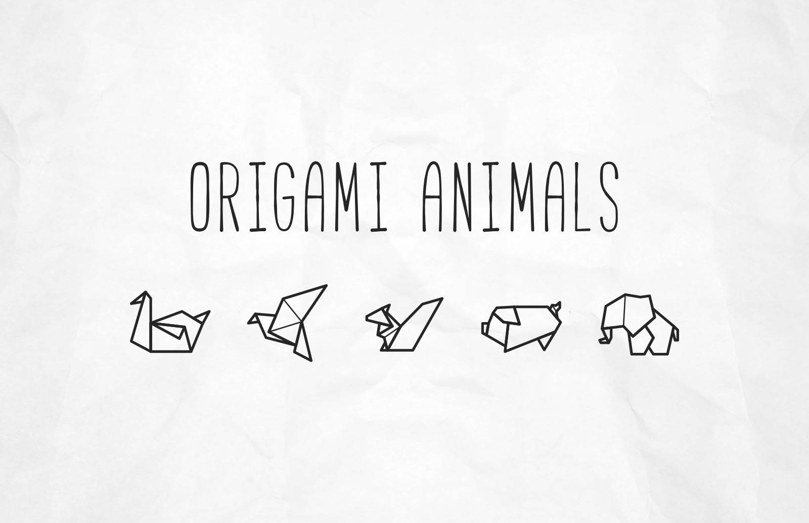 Large Vector Origami Animal Icons Preview 1