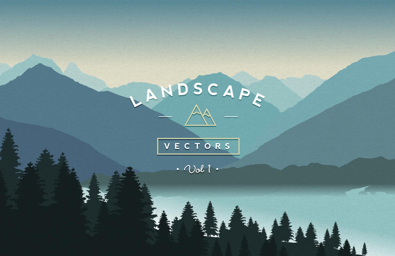 Landscape Illustration Vector Free: Vector Landscapes Vol 1
