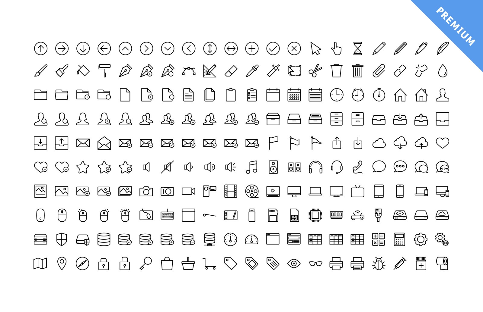 Large Vector Line Icons Preview 3