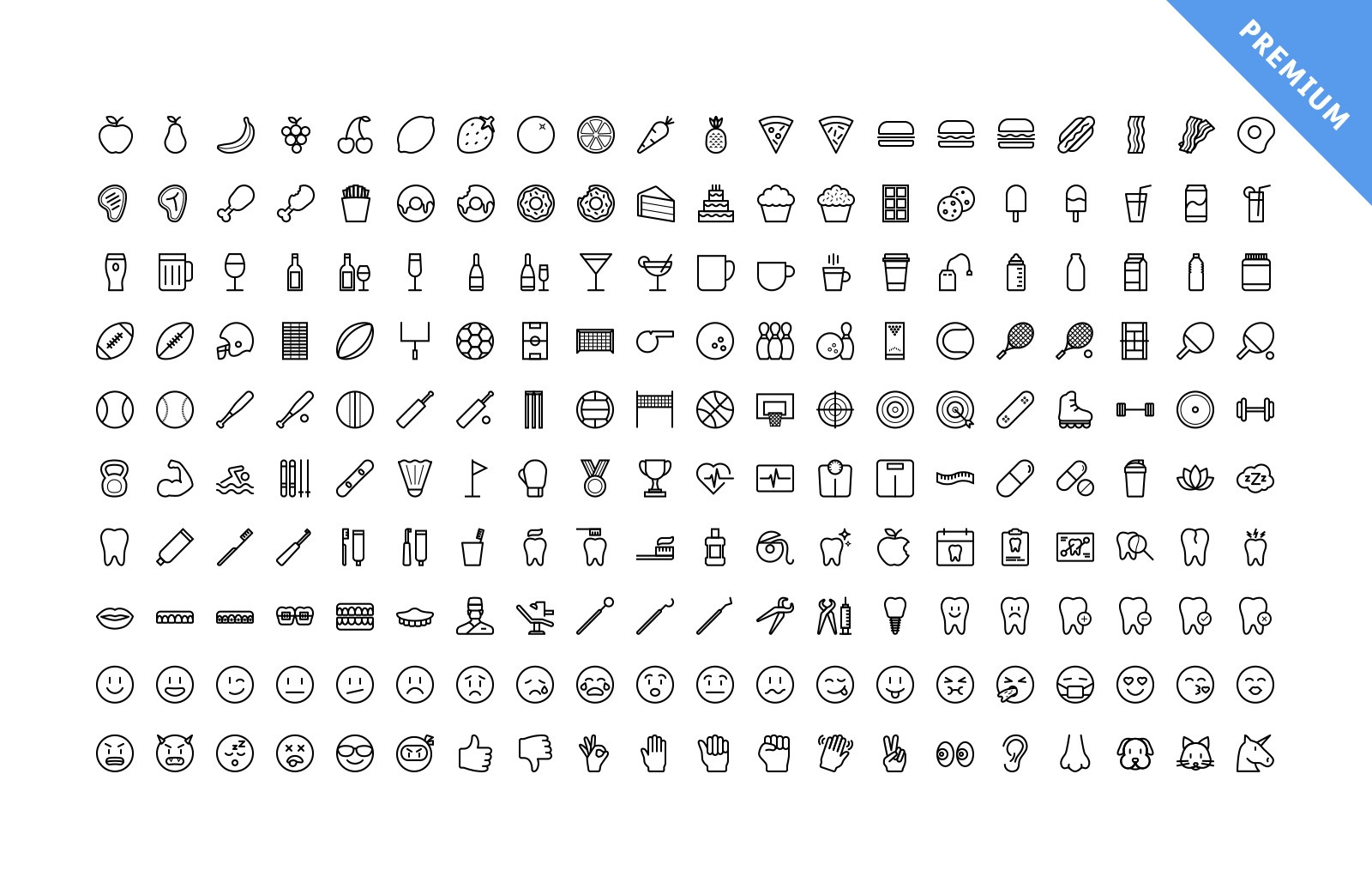 Large Vector Line Icons Preview 4