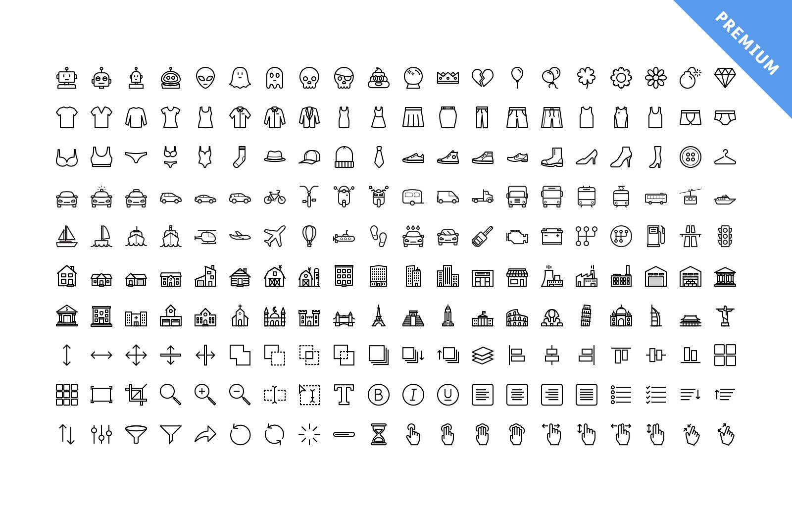 Large Vector Line Icons Preview 5