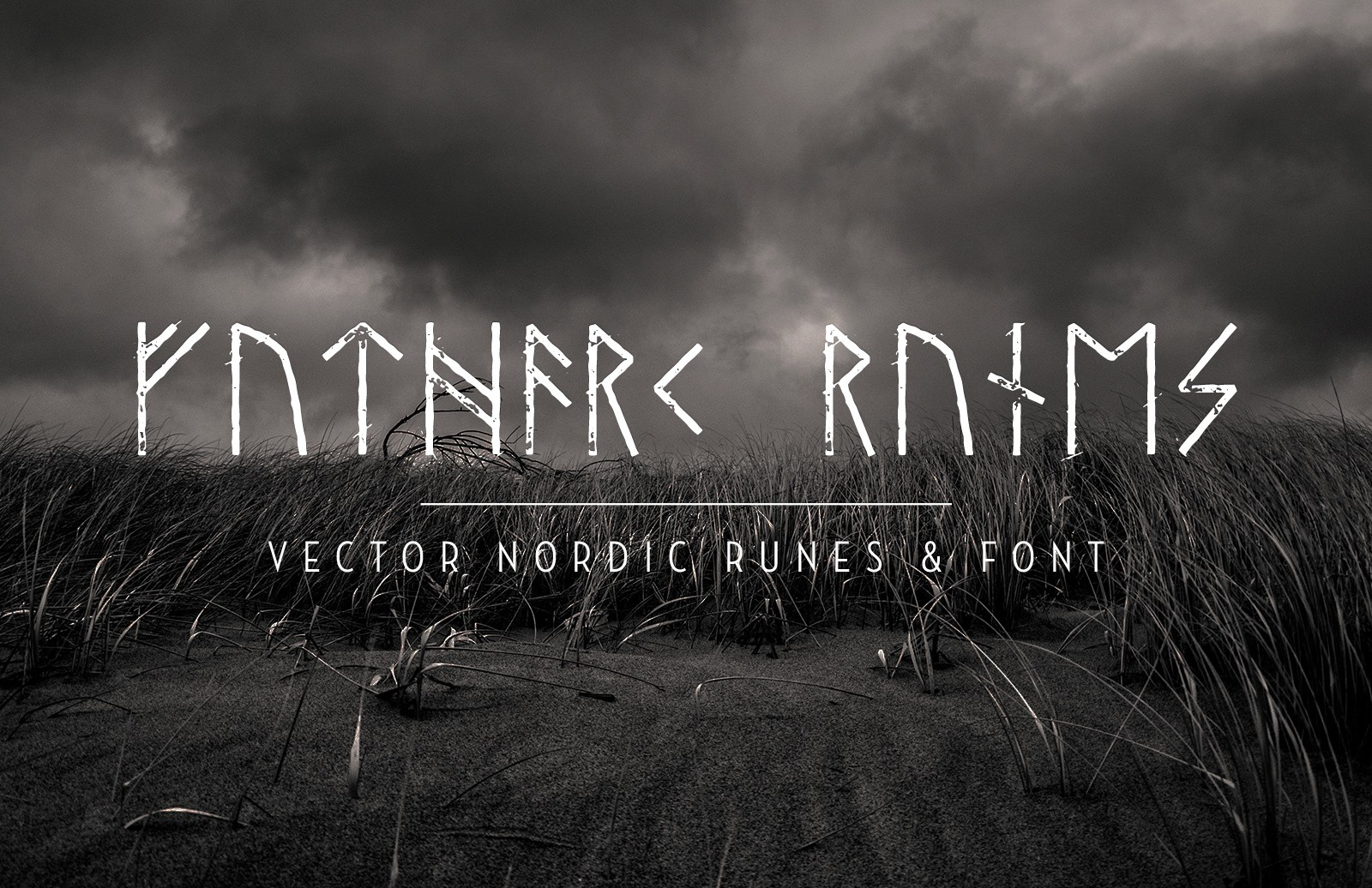 Vector Nordic Runes Font Preview 1A