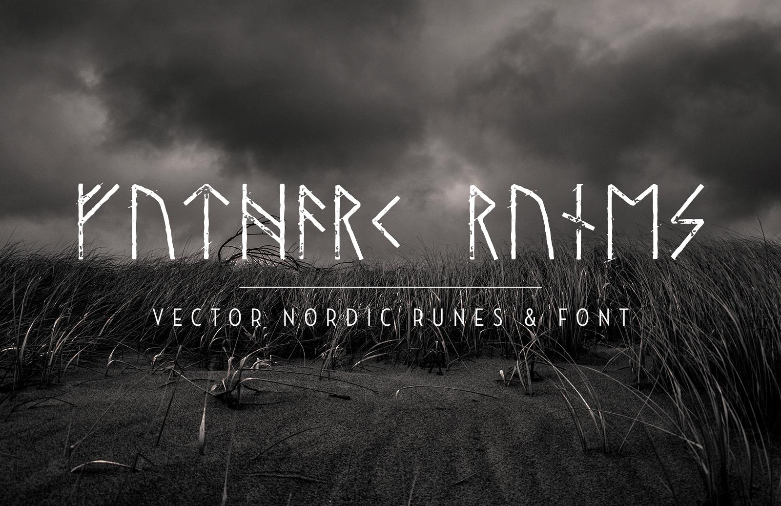 Vector Nordic Runes Font Preview 1A