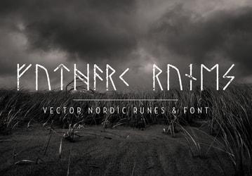 Viking Nordic Runes & Font