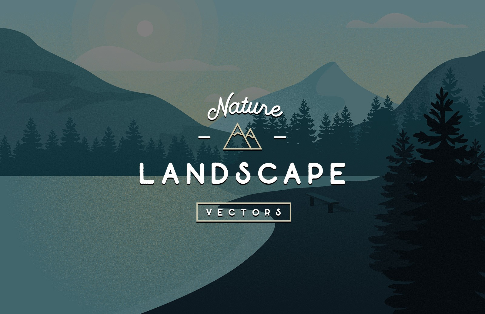Vector Nature Landscapes Preview 1