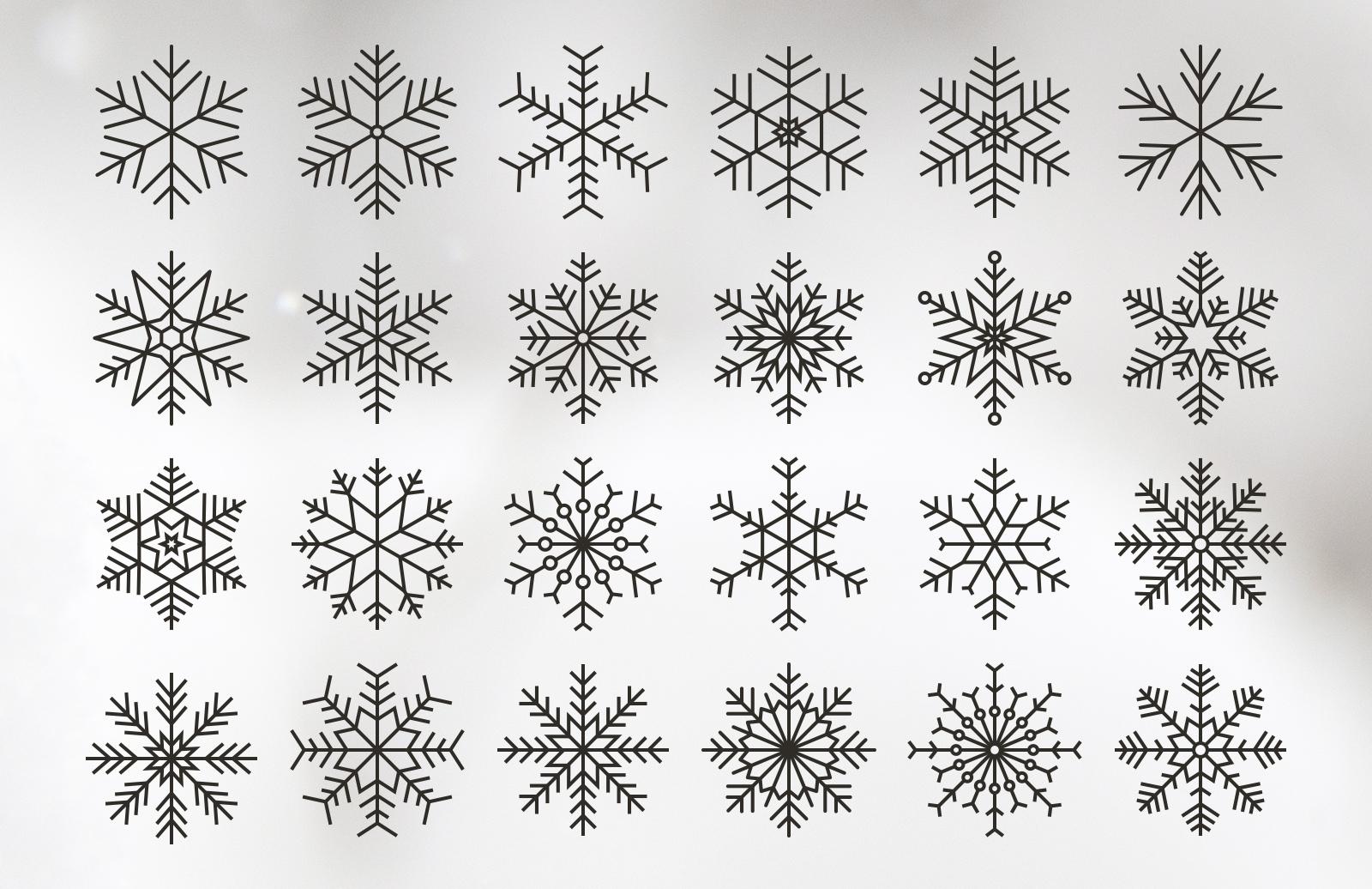 Vector Snowflakes 2