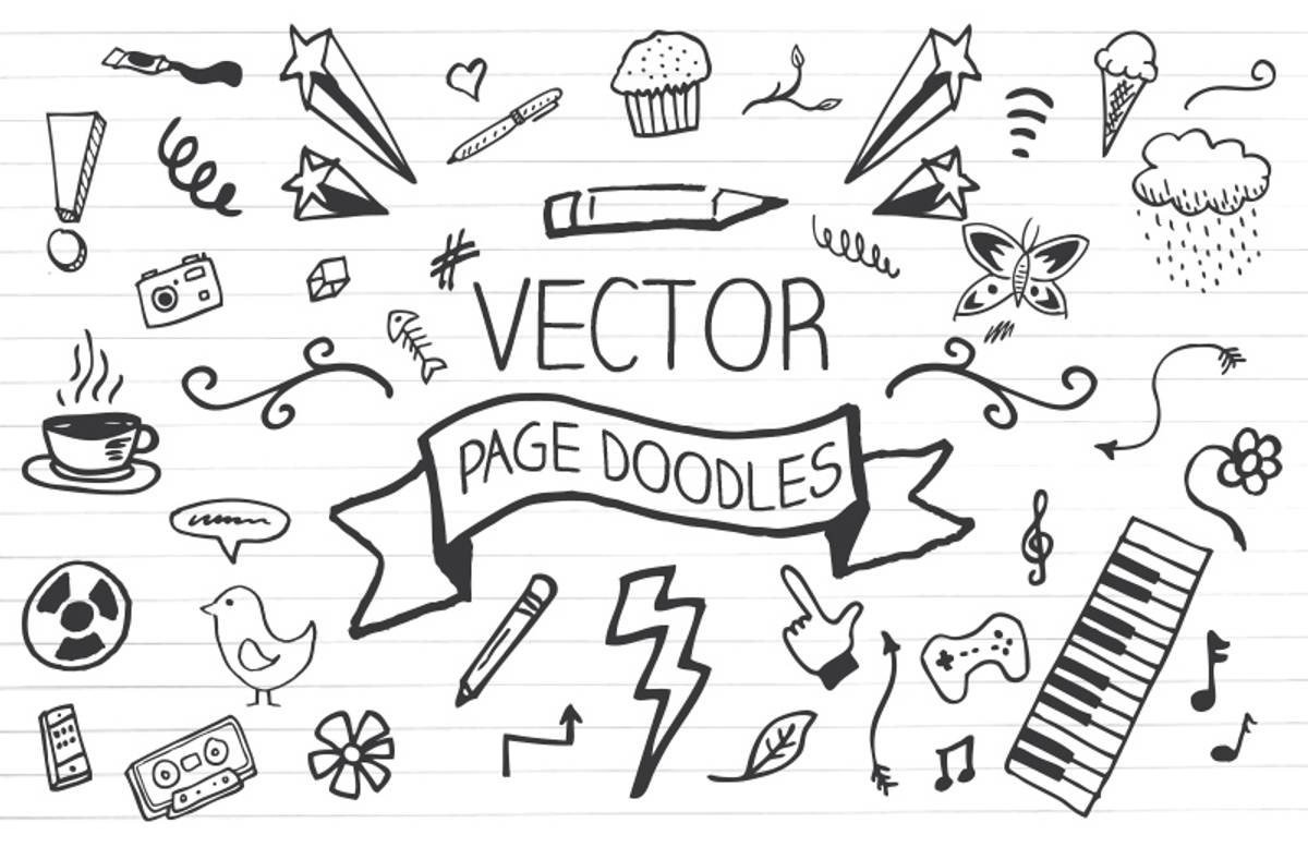 Vector  Page  Doodles  Preview 1A