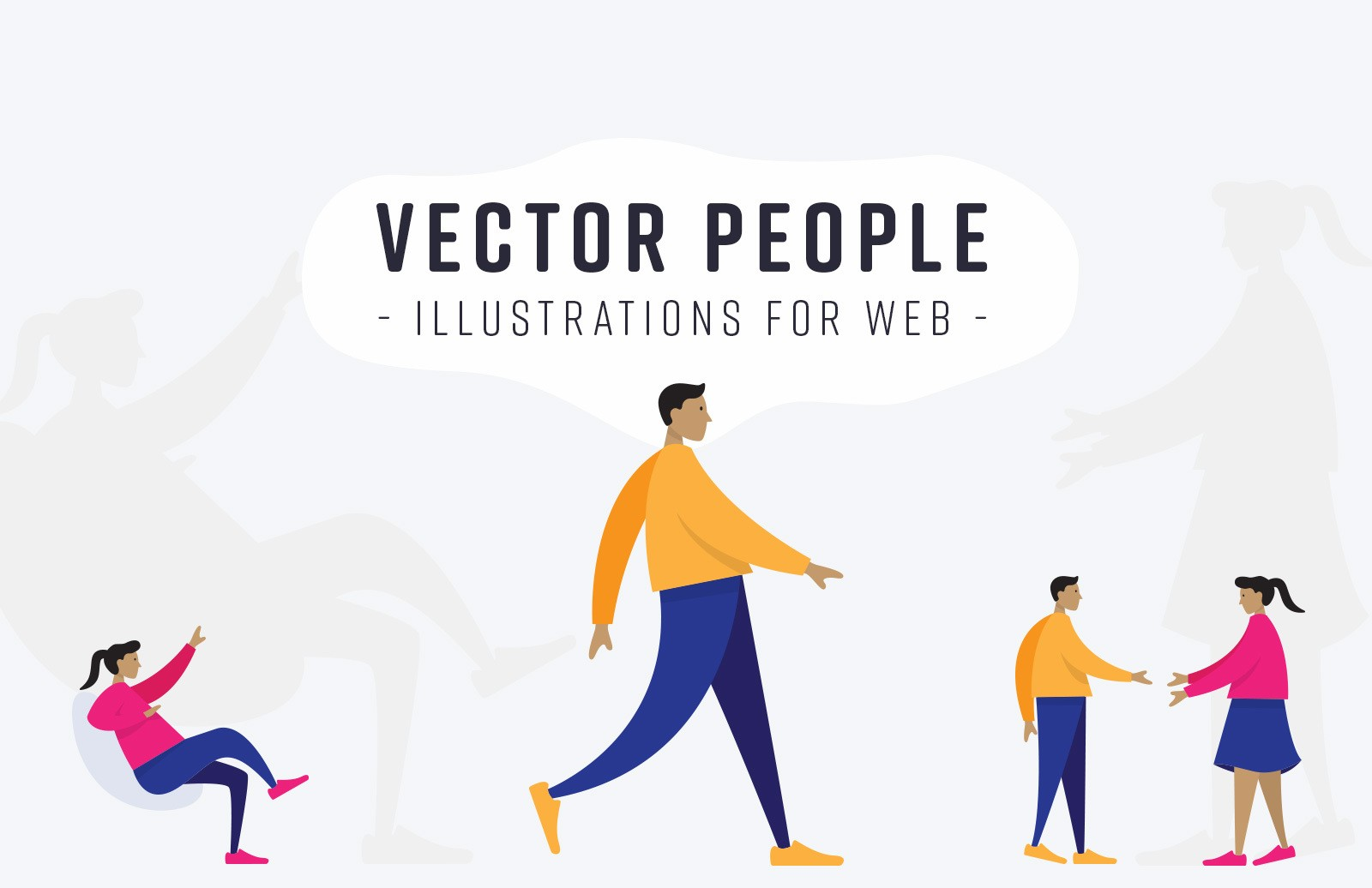 Vector People Illustrations For Web Preview 1