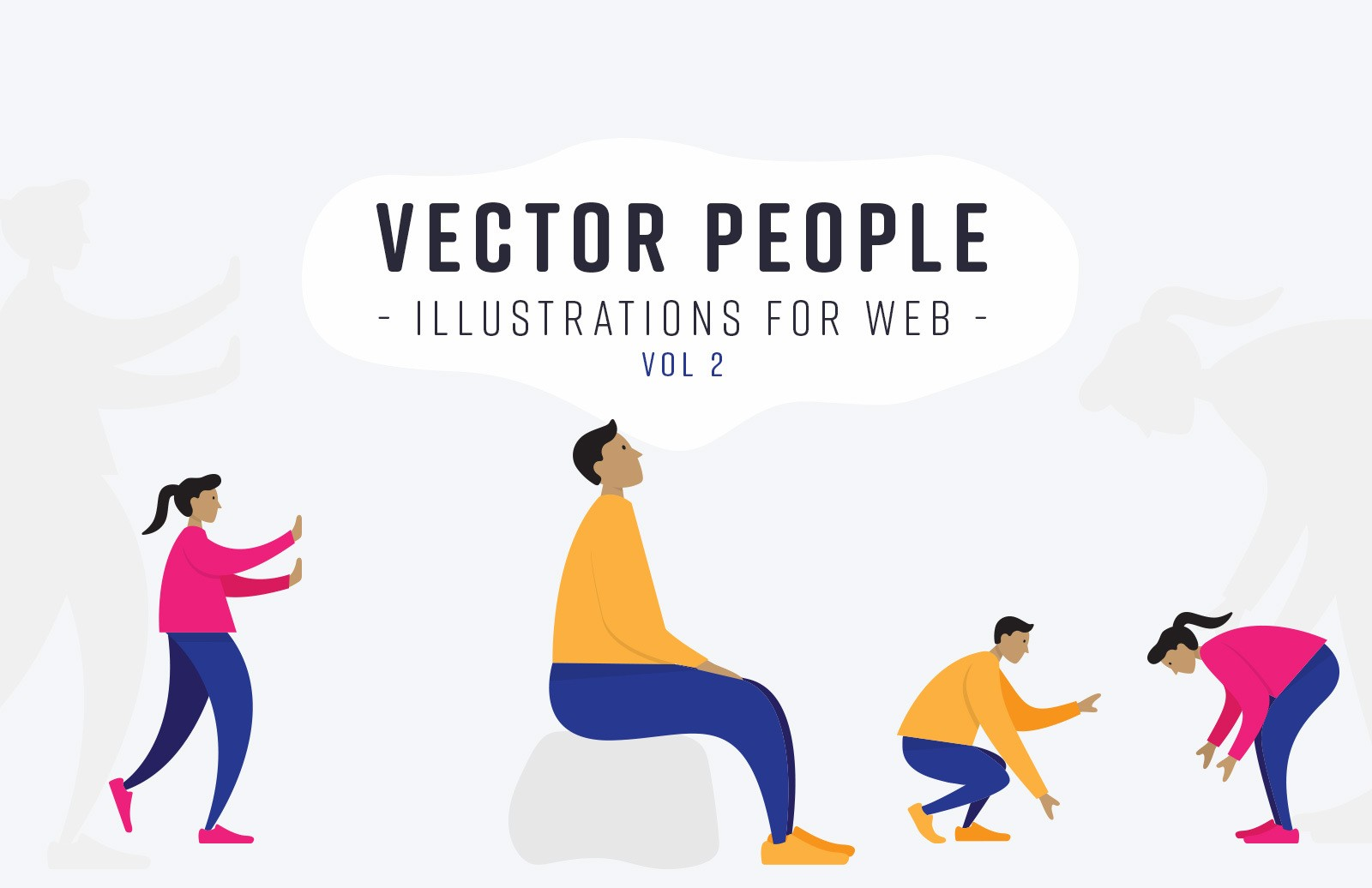 Vector People Illustrations For Web Vol 2 Preview 1