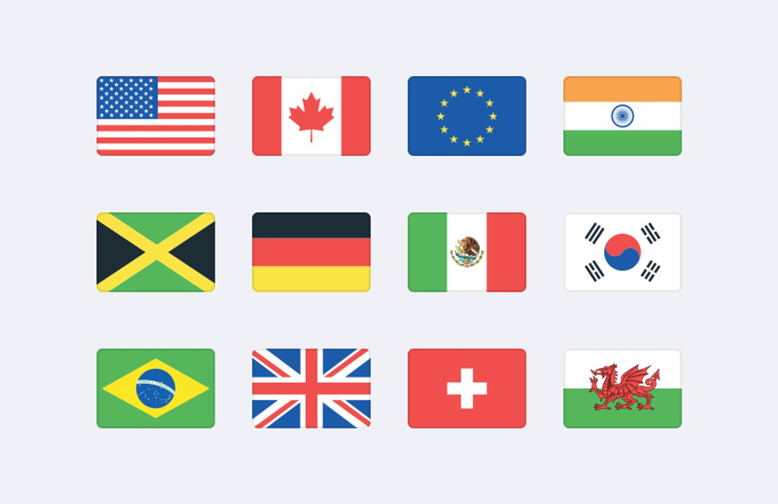 Vector  World  Flag  Icons  Preview 1