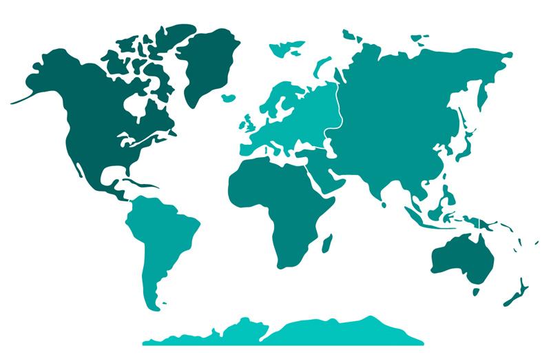 Vector World Map Us States Medialoot